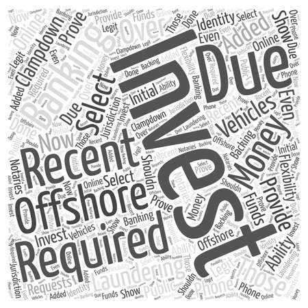 Offshore Investment Banking word cloud concept