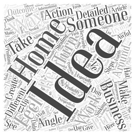 Is Someone Stealing Your Home Business Ideas Word Cloud Concept