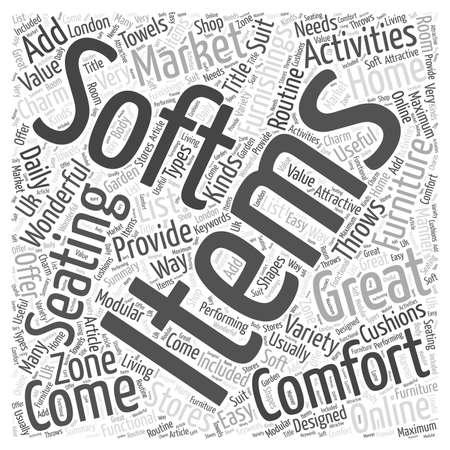home furnishings: Soft Furnishings word cloud concept