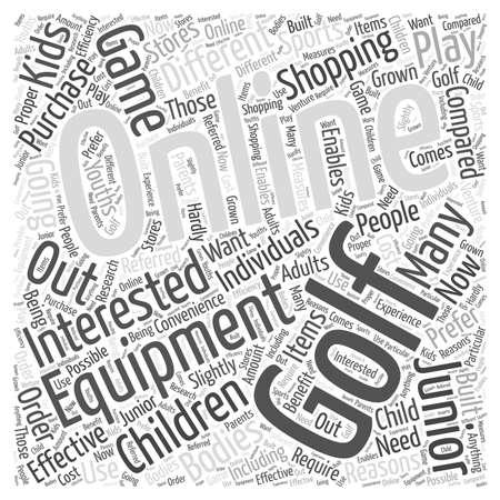 Junior Online Golf Equipment word cloud concept