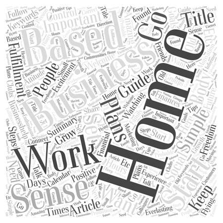 Simple guide to start your Home Based Business word cloud concept Ilustração