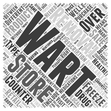 wart: Over the Counter Wart Removal Products word cloud concept