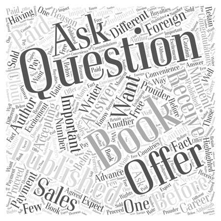 publishers: Questions to Ask Publishers Before Accepting an Offer word cloud concept