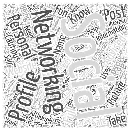 Social Networking Websites Who Is Reading Your Personal Information word cloud concept