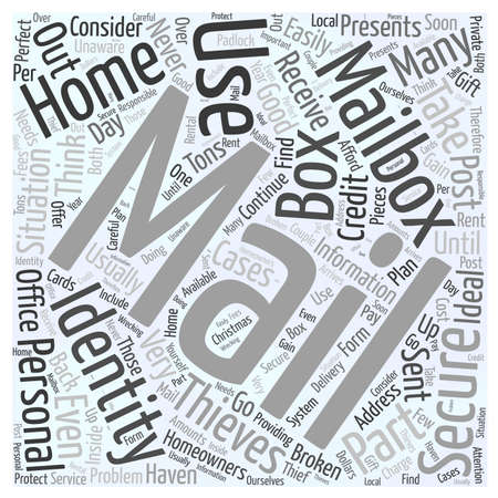 Home Security for your Mailbox word cloud concept