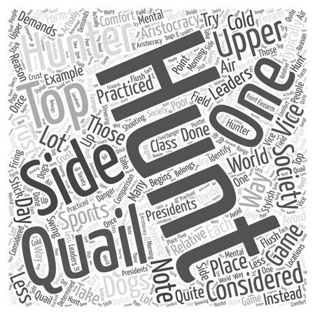 quail hunting word cloud concept