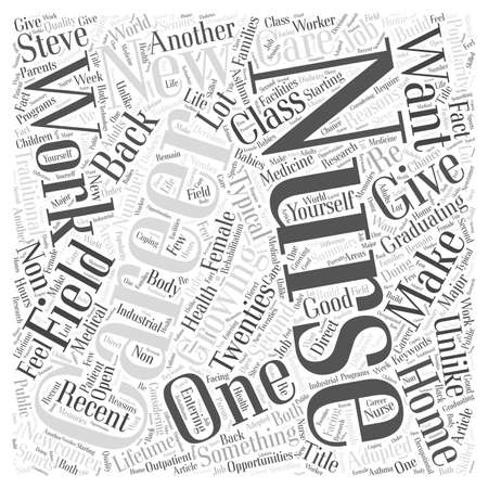reasons: Starting New With A Nursing Career word cloud concept