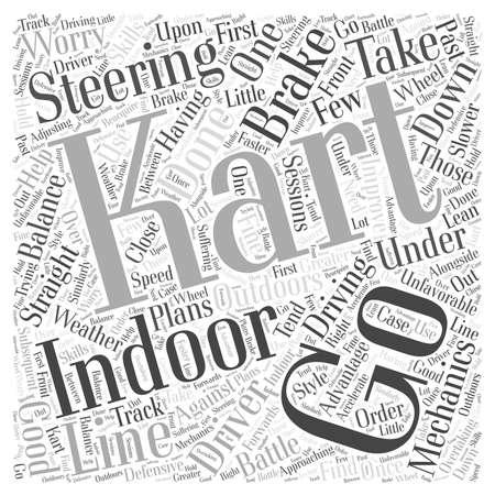 karting: The Mechanics of Indoor Karting word cloud concept