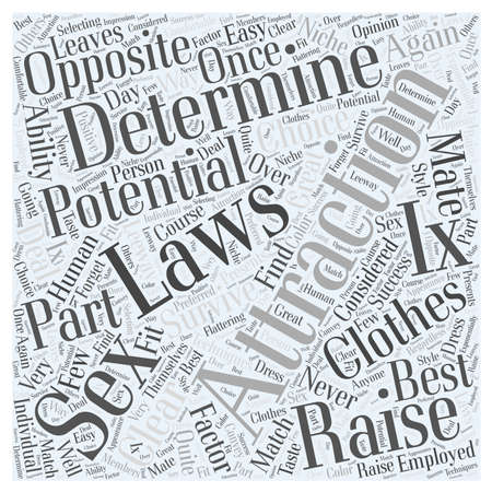 Laws of Attraction word cloud concept Ilustrace