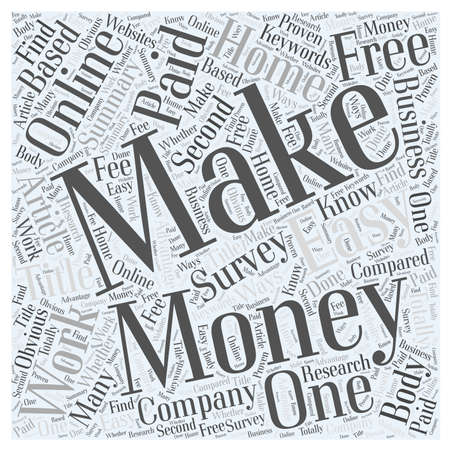 Make Money Online Work at home to make easy money online word cloud concept