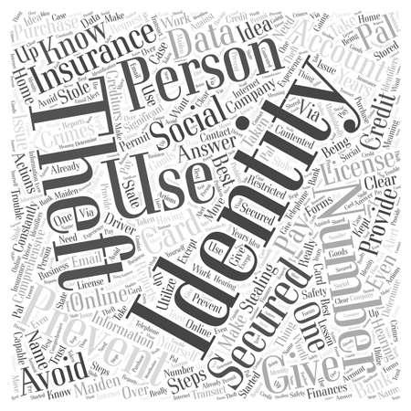 how to prevent identity theft word cloud concept Illusztráció