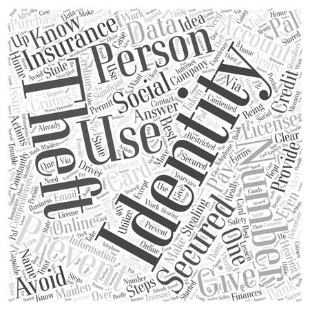 how to prevent identity theft word cloud concept Illustration