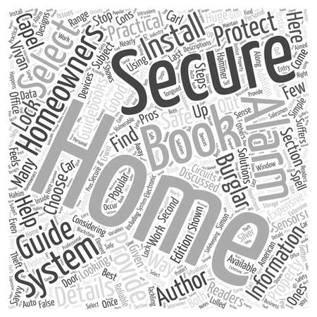 Home Security Alarms Books for Homeowners word cloud concept