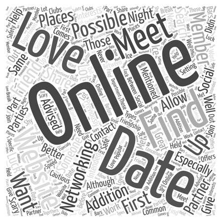 Social Networking Websites Is It Possible to Find Love Online word cloud concept