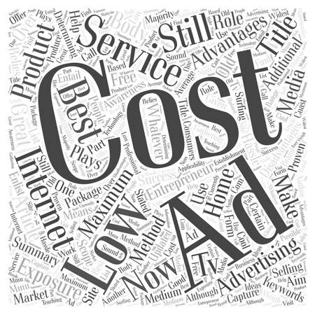Maximum Exposure on Low Cost Internet Ad word cloud concept