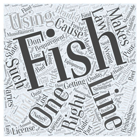 SF fishing line word cloud concept