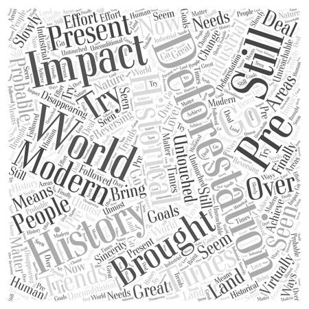 reversing: The History Of Deforestation And The Impact It Brought To The Modern World word cloud concept