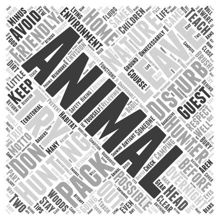 try: the nature friendly hunter word cloud concept