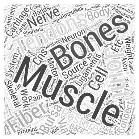 Hoe de skeletspieren veroorzaken rugpijn word cloud concept Stock Illustratie
