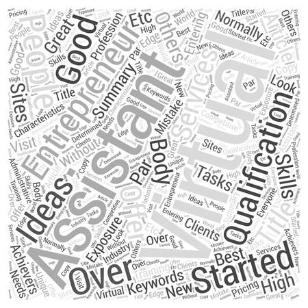How to Get Started as a Virtual Assistant Entrepreneur word cloud concept