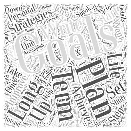 accomplish: Strategies that Help Improve your Personal Life word cloud concept