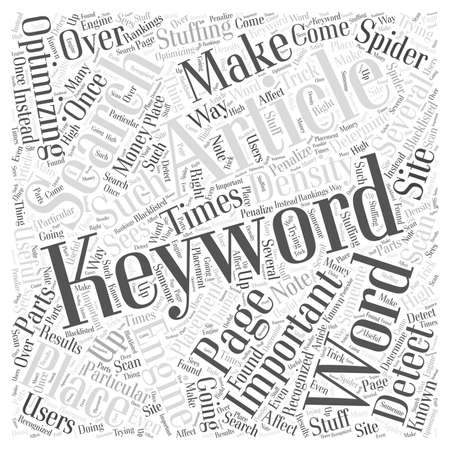 The Importance of Keywords word cloud concept