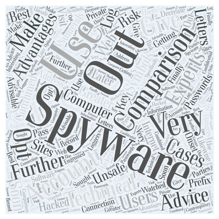 prefix: spyware comparison word cloud concept Illustration