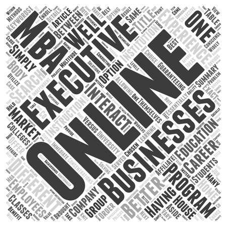 企業よりの家エグゼクティブ MBA プログラム単語雲概念におけるオンライン教育 A より良いオプション