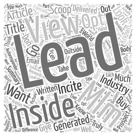 opt: The Insider s View Into the MLM Opt In Leads Industry word cloud concept