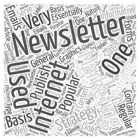 Internet Marketing With An E Newsletter word cloud concept