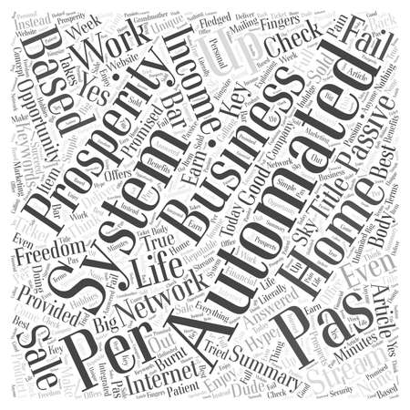 automated: Prosperity Automated System Your Key to Passive Income word cloud concept