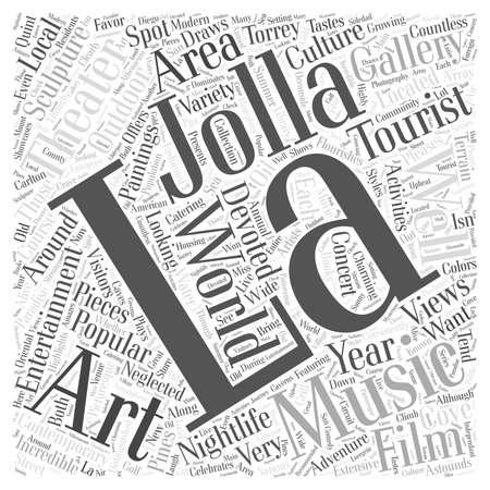La Jolla Entertainment word cloud concept Ilustração