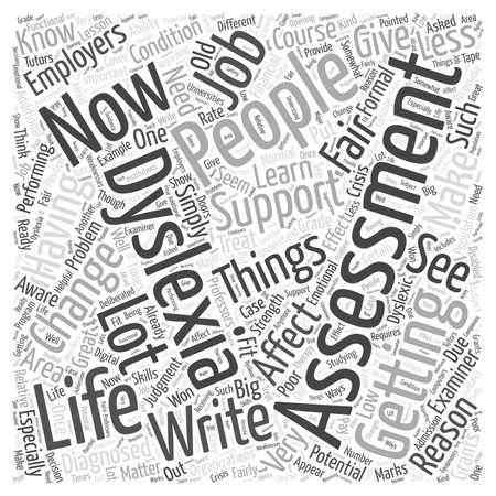 Wie eine Veranlagung zur Legasthenie Ihr Leben verändern Wort Cloud-Konzept
