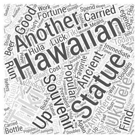 Hawaiian Souvenirs word cloud concept