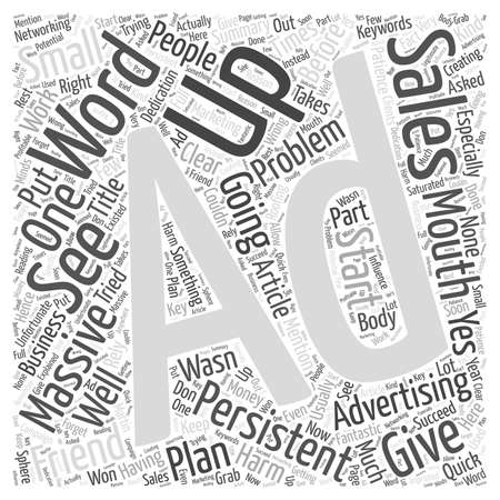 Persistent Advertising Will Do No Harm word cloud concept