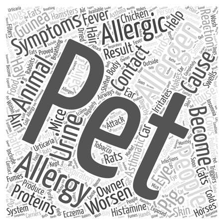 histamine: Pet Allergies and Their Causes word cloud concept