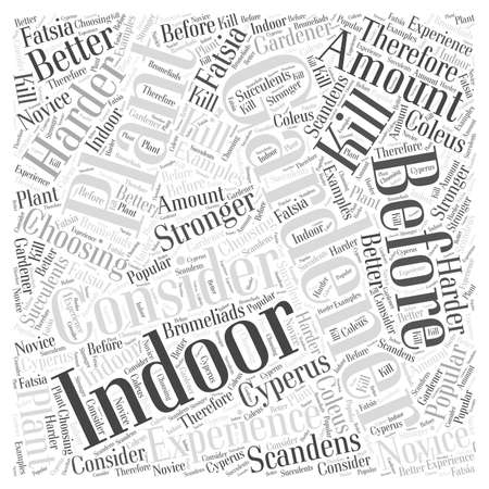 stronger: Indoor Gardening  word cloud concept