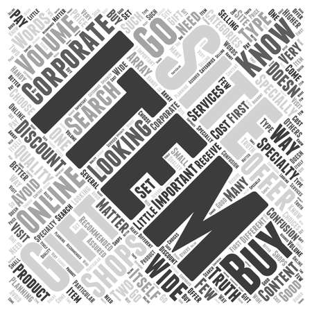 corporate gift: corporate gift online word cloud concept