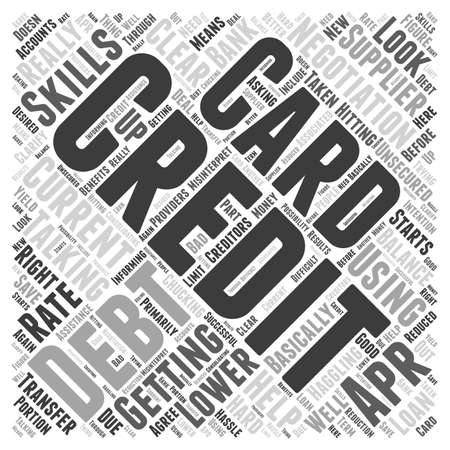 Haggling With Your Creditors word cloud concept