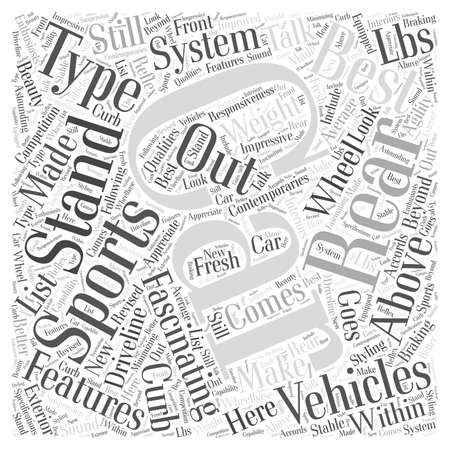 fascinated: SC best sports car word cloud concept