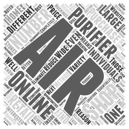 Shopping Online for an Air Purifier word cloud concept Иллюстрация