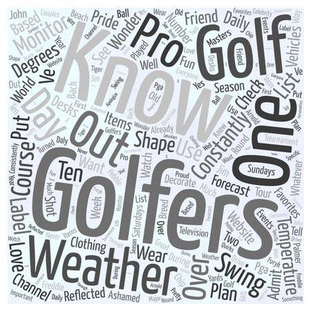 Golfers word cloud concept