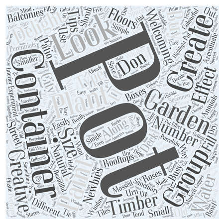 containergardening word cloud concept Illustration