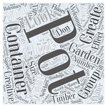 containergardening word cloud concept 版權商用圖片 - 67486181