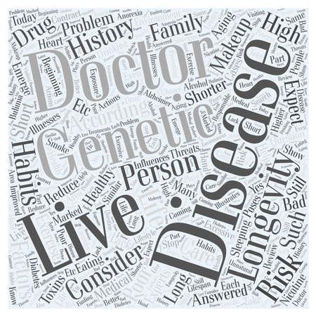longevity: Longevity and Healthy Aging word cloud concept