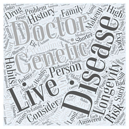 Longevity and Healthy Aging word cloud concept