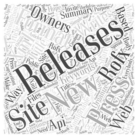 New way in the press releases writing word cloud concept Illustration