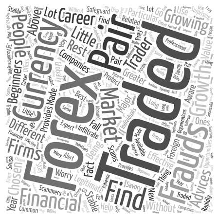 forex trading advice word cloud concept