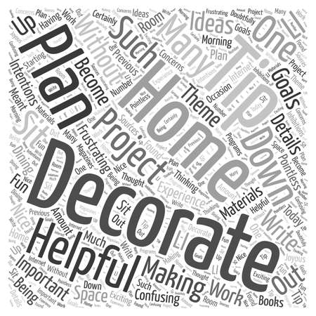 decorating: Helpful Home Decorating Tips word cloud concept
