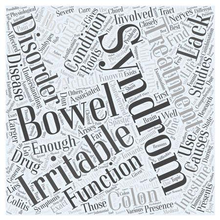 bowel: irritable bowel syndrom word cloud concept Illustration